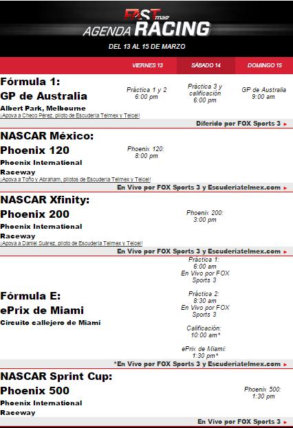 agenda racing 12mar